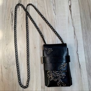 ⛓DIESEL⛓ studded leather neck wallet